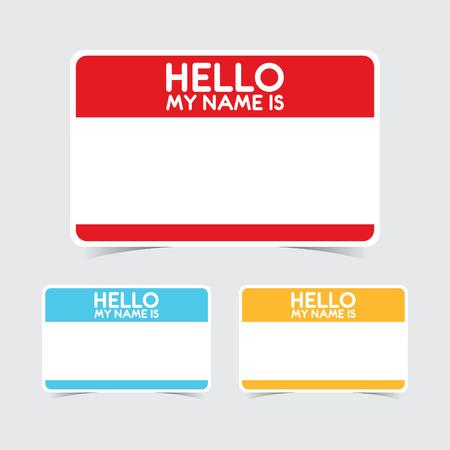 Blank Bonjour mon nom est Autocollants Nom Tag