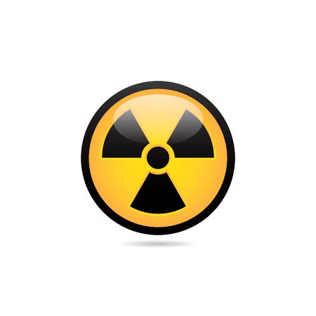 Icono de la radiación del peligro
