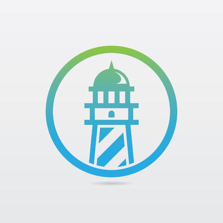 light  house: Round Lighthouse Icon Illustration