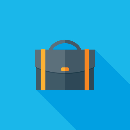 Briefcase Flat Long Shadow Icon