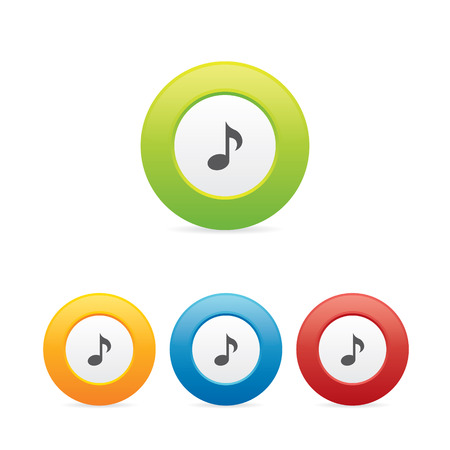 Colorful Music Note Icons Vettoriali