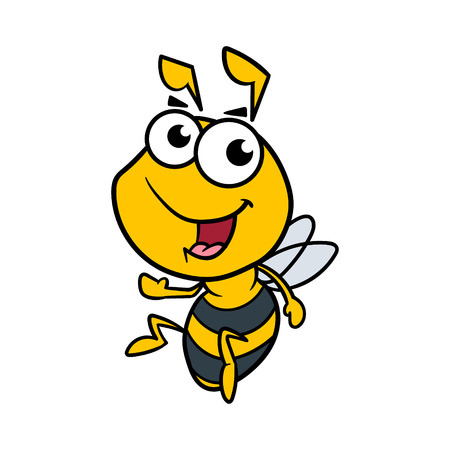 Friendly Cartoon Bee Vector Illustration Illustration