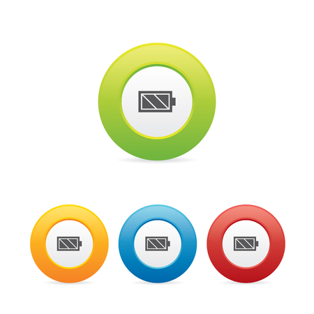 Colorful Battery Icons