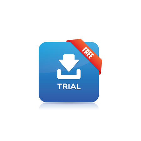 shareware: Free Trial Button With Ribbon