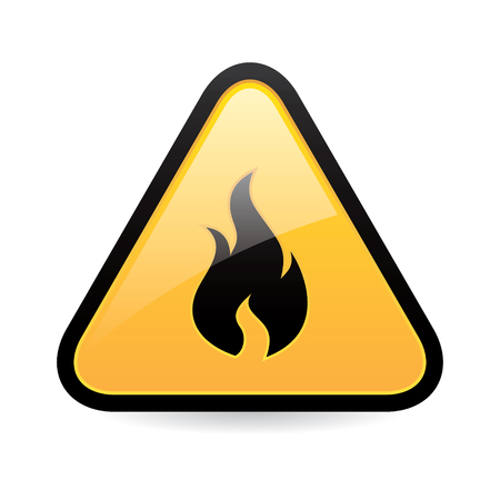Fire Hazard Icon Illustration
