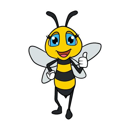Freundliche Cartoon Weibliche Bee Illustration