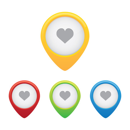 Heart or Favorite Location Pins