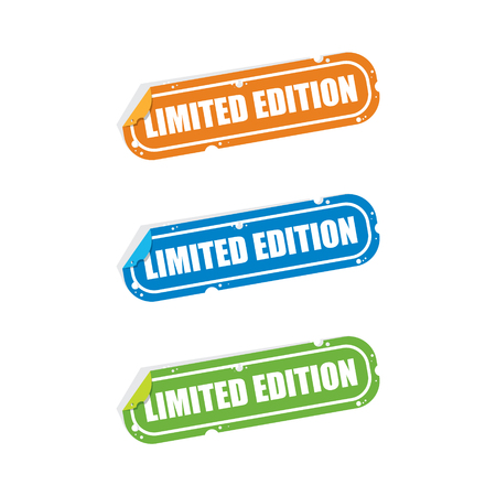 limited edition: Limited Edition Sticker Labels Illustration