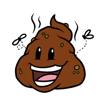 Happy Cartoon Poop Vector Illustration