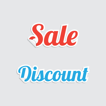 Sale and Discount Sticker Labels