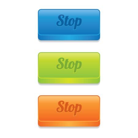 Colorful Stop Buttons