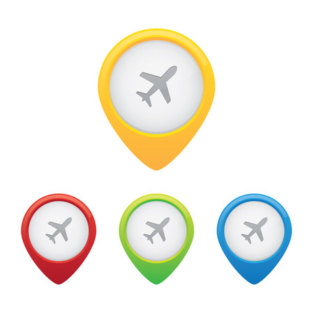 Airport Location Markers or Map Pins