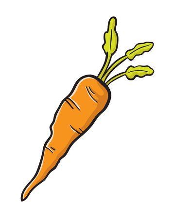 Cartoon Carrot Vector Illustration