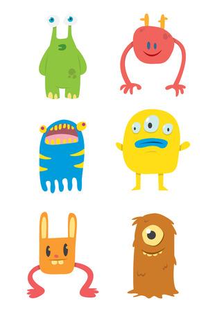Vector Set of Cute Monsters