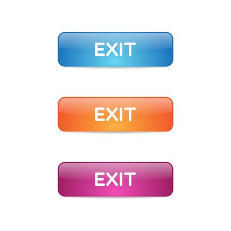 Glossy Exit Buttons