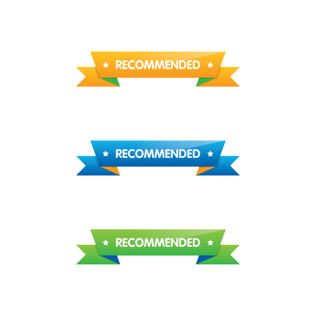 Colorful Set of Recommended Ribbons