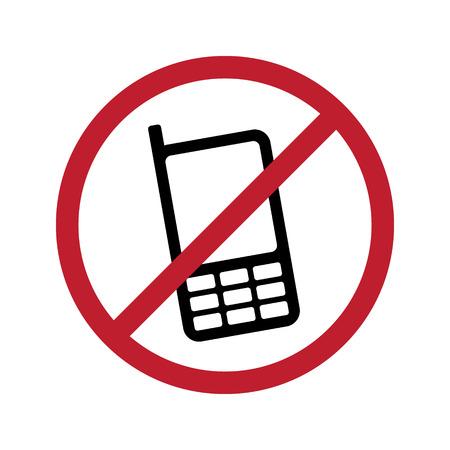 No Phone Vector Sign Illustration Ilustração