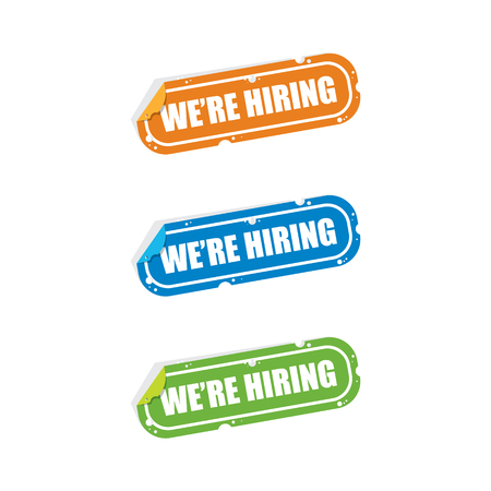 We are Hiring Sticker Labels