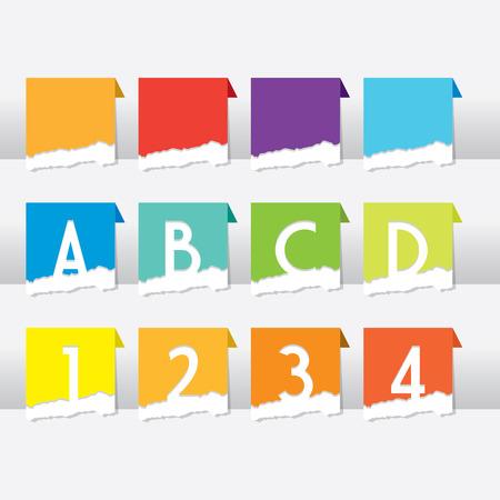 Ripped Paper Dividers Ilustração