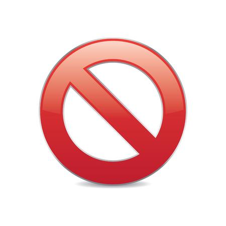 Stop Sign Icon Illustration