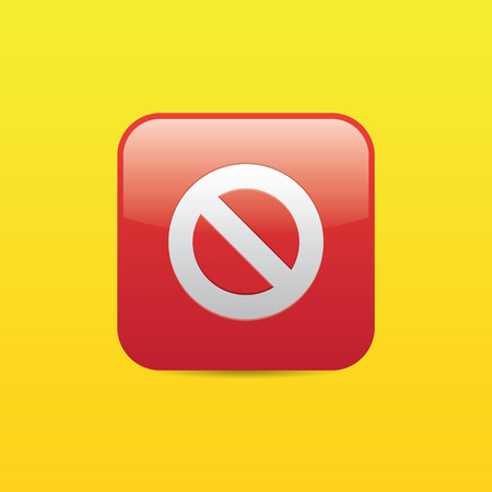 Stop Sign Icon Ilustração