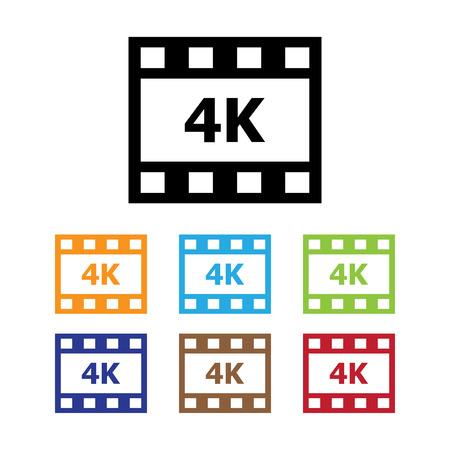 4K Movie Symbol Ilustração