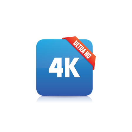 4K Ultra HD Icon With Ribbon
