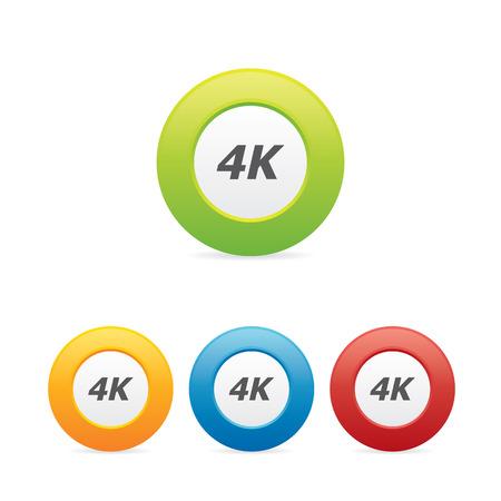 Colorful 4K Icons Illustration