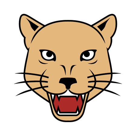 Lioness Head Vector Illustration