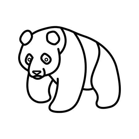 Panda Outline Vector Illustration