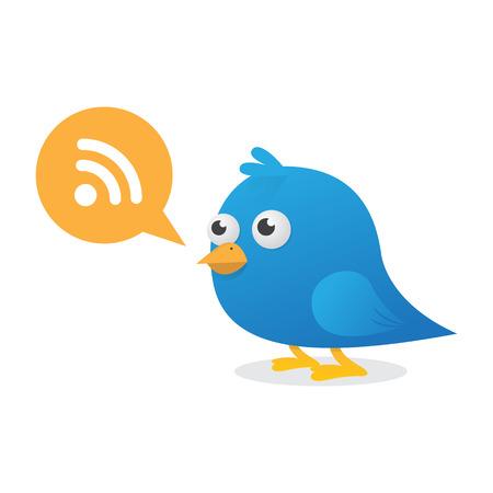 Blue Bird Subscription Vector llustration