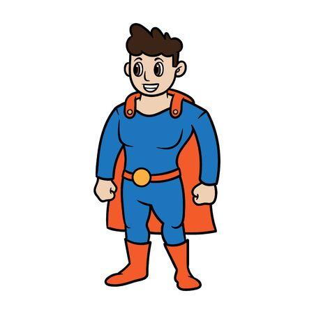 Cartoon Superhero Vector Illustration Ilustração