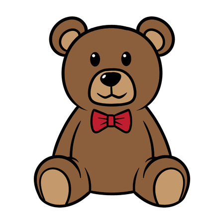 Cartoon Teddy Bear Vector Illustration Ilustracja