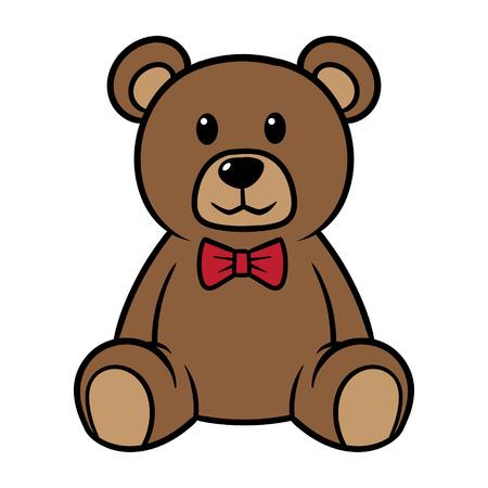 Cartoon Teddy Bear Vector Illustration Vettoriali