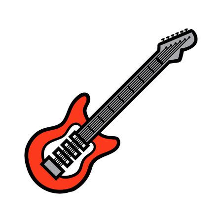 Cartoon Electric Guitar Vector Illustration Ilustração