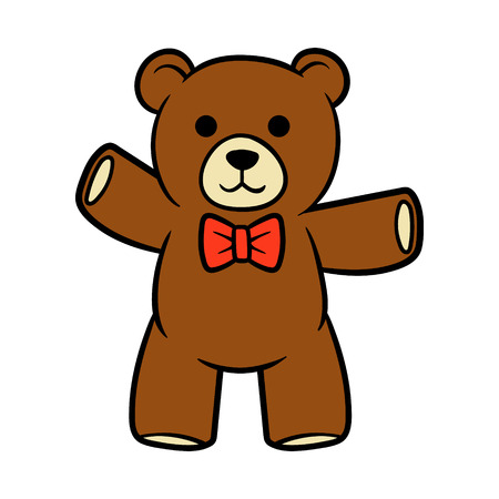 Cartoon Teddy Bear Vector Illustration Ilustração
