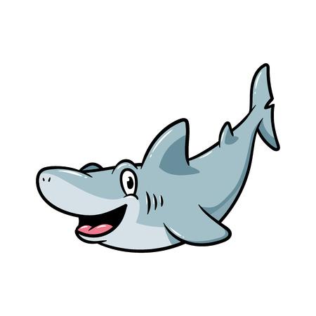 Friendly Cartoon Shark Vector Illustration Imagens - 72212675