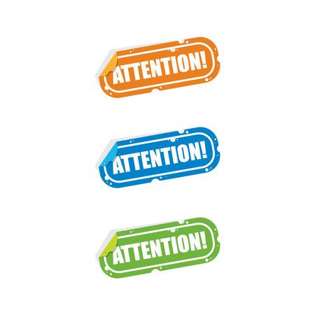 Attention Sticker Labels