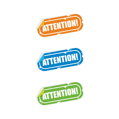 Attention Sticker Labels