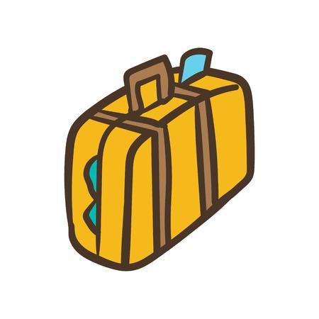 Cartoon Baggage or Luggage Briefcase Stock Illustratie