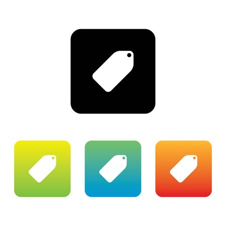 Colorful Set of Tag Label Icons Stock Illustratie