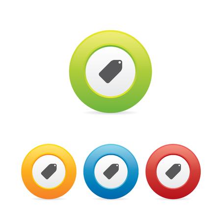 Colorful Tag Label Icons Ilustração