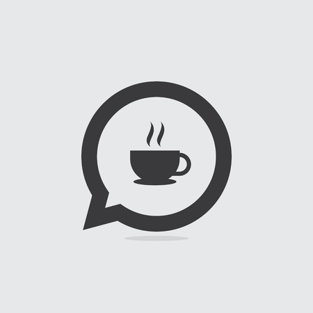 Cup of Coffee or Tea Speech Bubble Icon