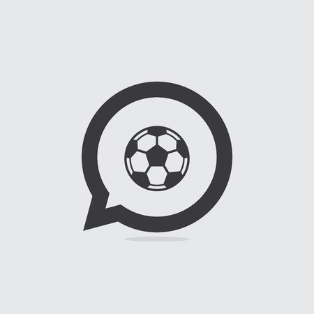 Soccer or Football Speech Bubble Icon