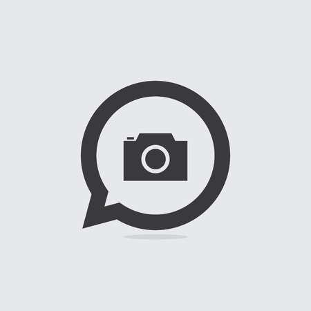 Camera or Photography Speech Bubble Icon