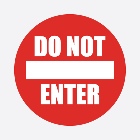 Red round Do Not Enter Vector Sign