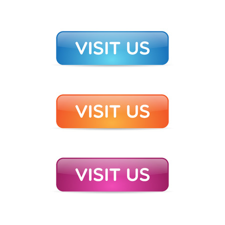 Glossy Visit Us Buttons