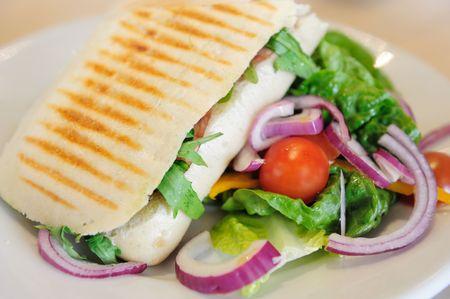 focaccia: Panini with Salad