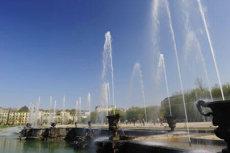 ベルサイユ宮殿、パリで最終的な噴水ショー 写真素材