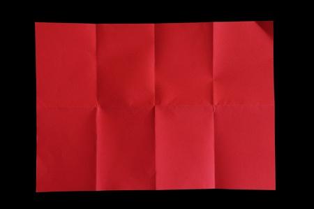 crumple: Red Crumple Paper Stock Photo